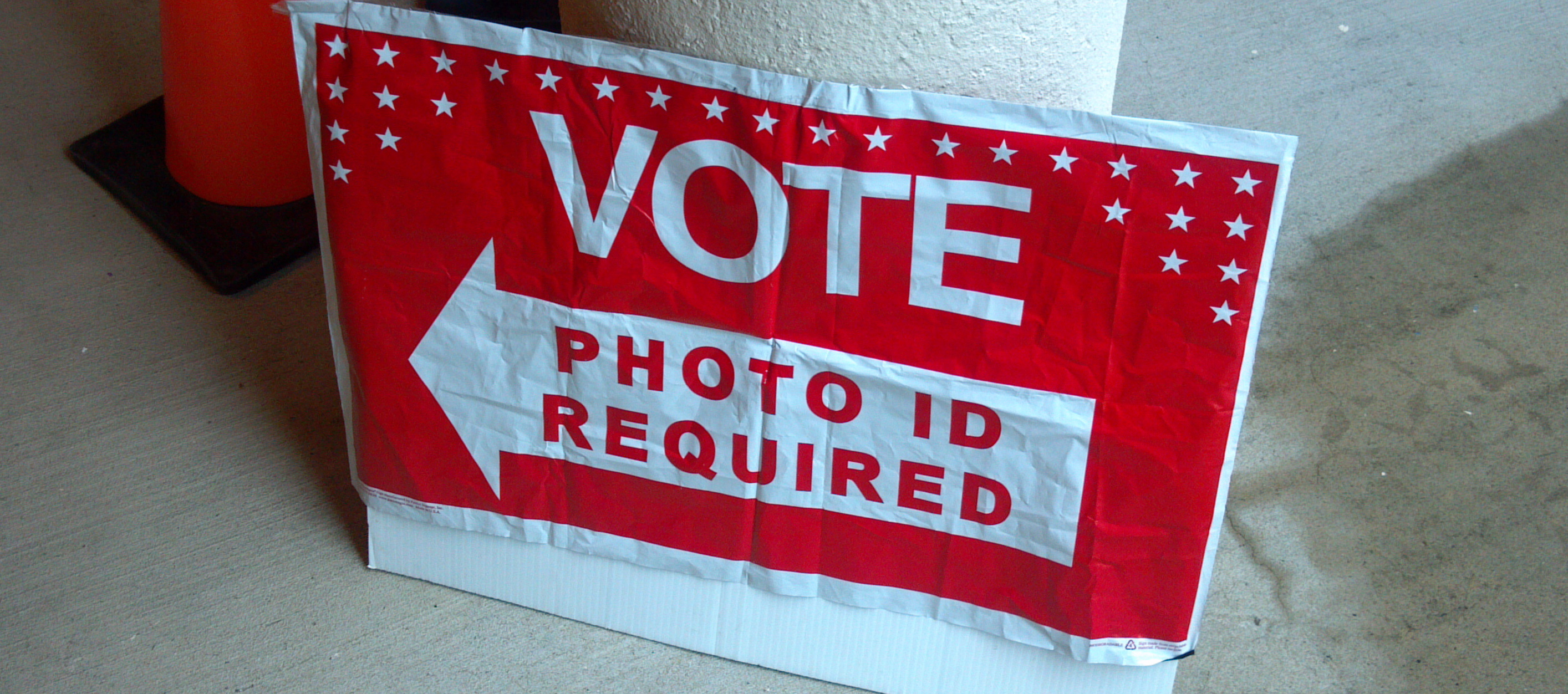 Voter ID Required Sign