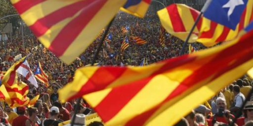 Tensions In Spain Rising As Catalan Independence Referendum Draws Near