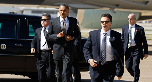 Obama With Secret Service