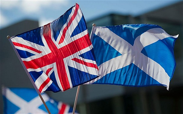 UK and Scottish flags