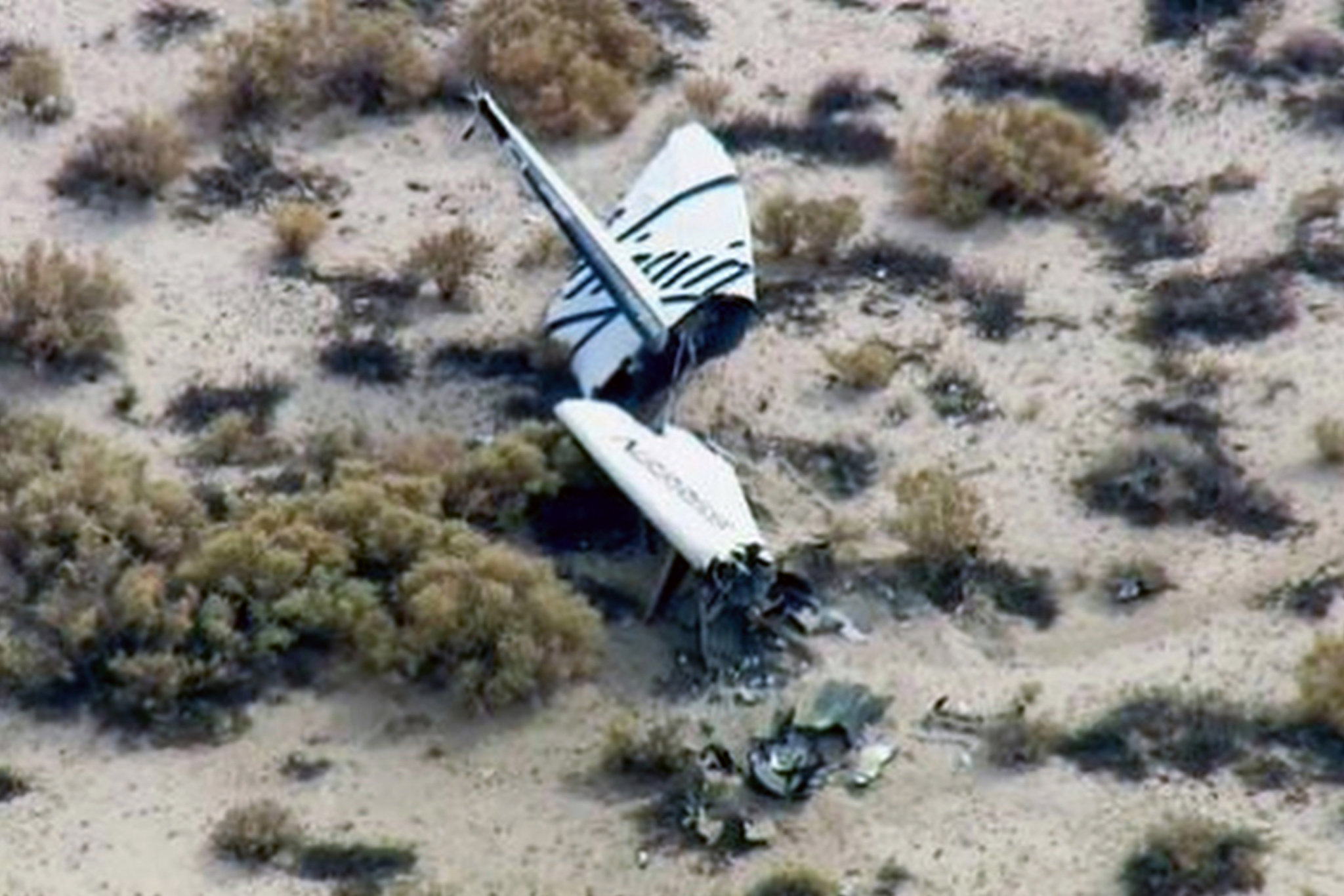 Virgin Galactic Spaceship Two Crash