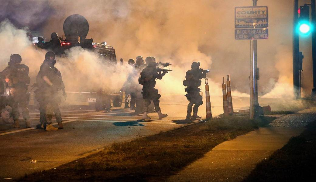 Ferguson Protests Police Riot Gear