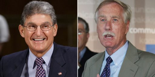 Not Surprisingly, Angus King And Joe Manchin Are Staying Where They Are