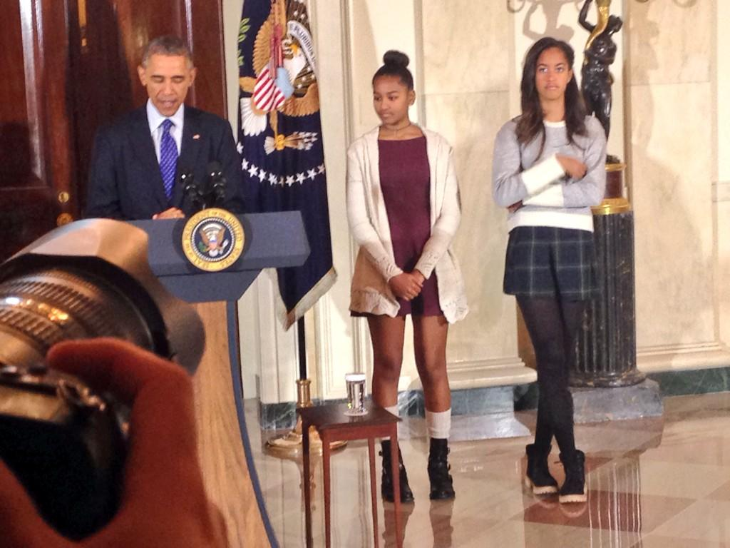 Obama Sasha and Malia