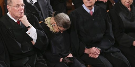 "Justice Ginsburg ""Not 100 Percent Sober"" During State Of The Union"
