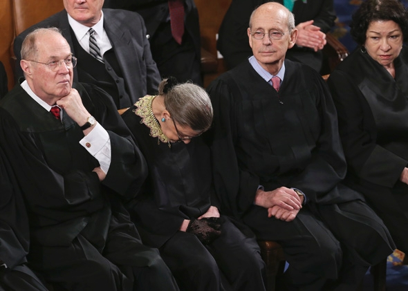 Image result for ginsburg asleep on bench