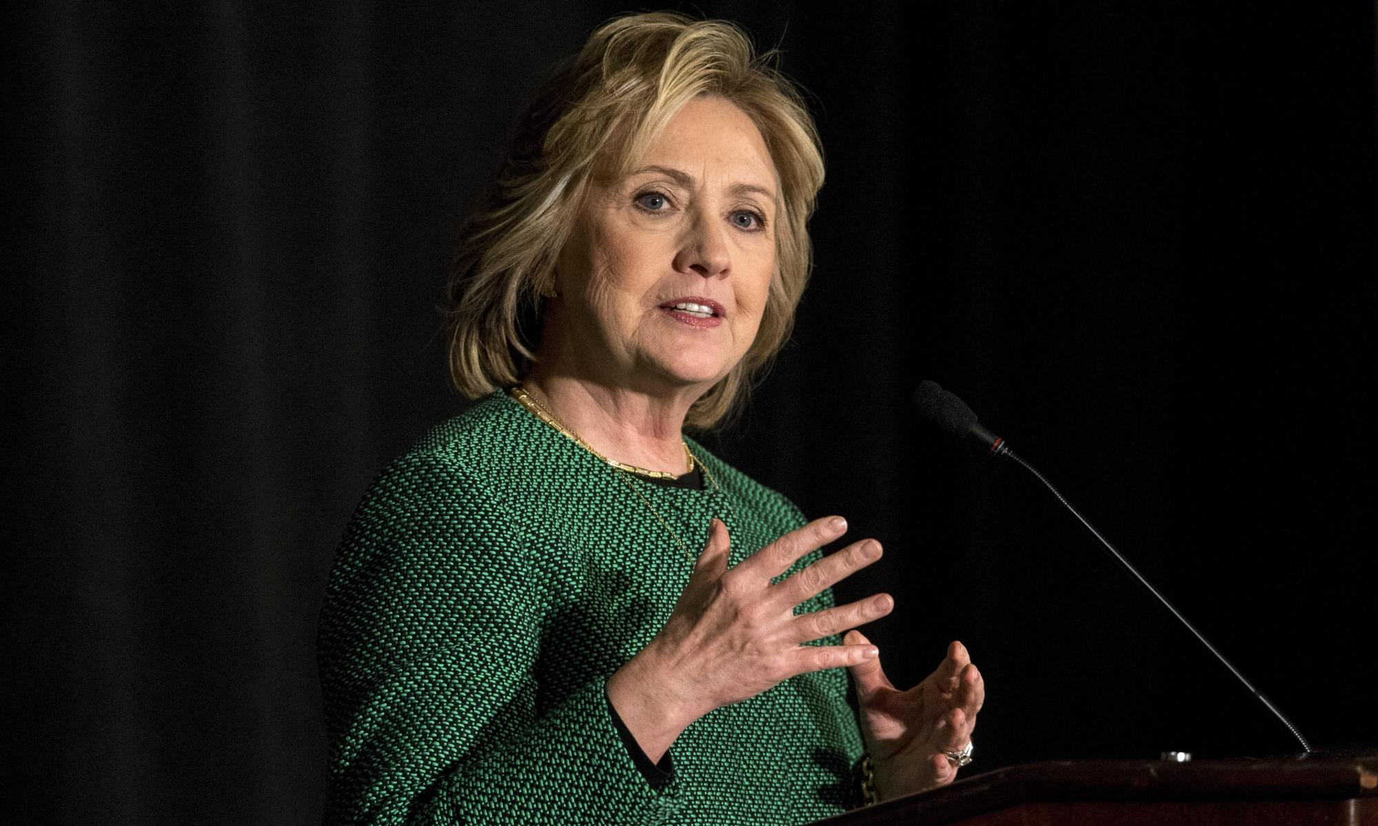Former US Secretary of State Hillary Rodham Clinton inducted into the Irish America Hall of Fame