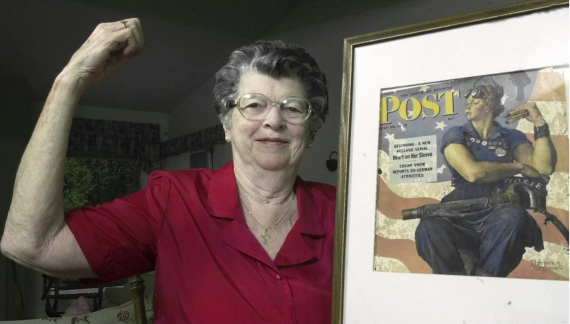 mary keefe model for norman rockwell 39 s rosie the riveter 39 dies at 92. Black Bedroom Furniture Sets. Home Design Ideas
