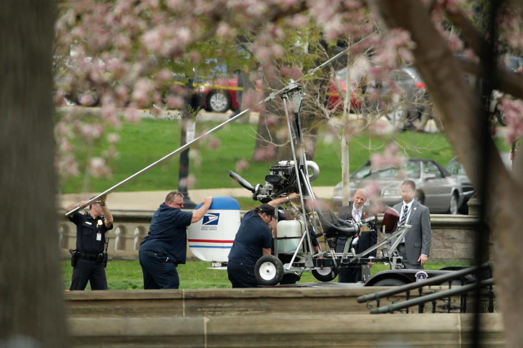 Helicopter Lands On Lawn Of U.S. Capitol