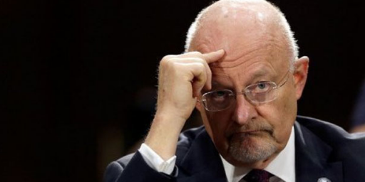 James Clapper Tells Congress He Testified Falsely Because, 'I Forgot'