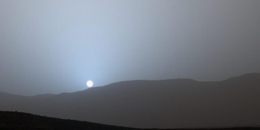 Curiosity Rover Captures The Blue Sunset Of Mars