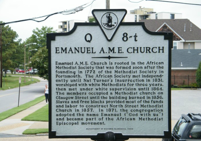 Emanual A.M.E. Church Marker