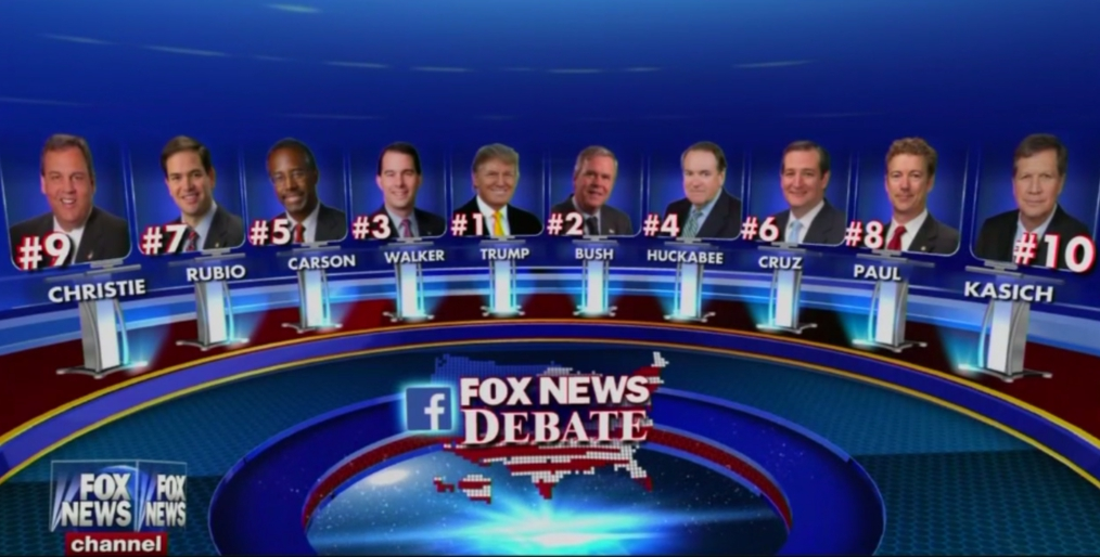 Fox News Republican Debate Lineup