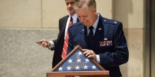 Lindsey Graham Promoted Twice As Absentee Reservist
