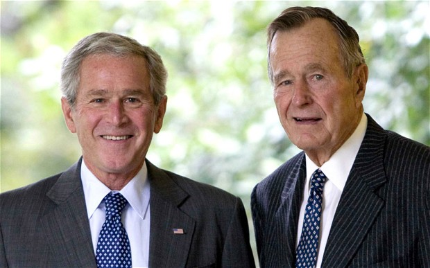 Bush 43 And Bush 41 Together