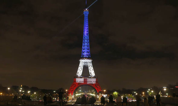 Eiffel Tower French Tricolor