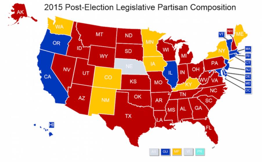 State Legislature Party Breakdown