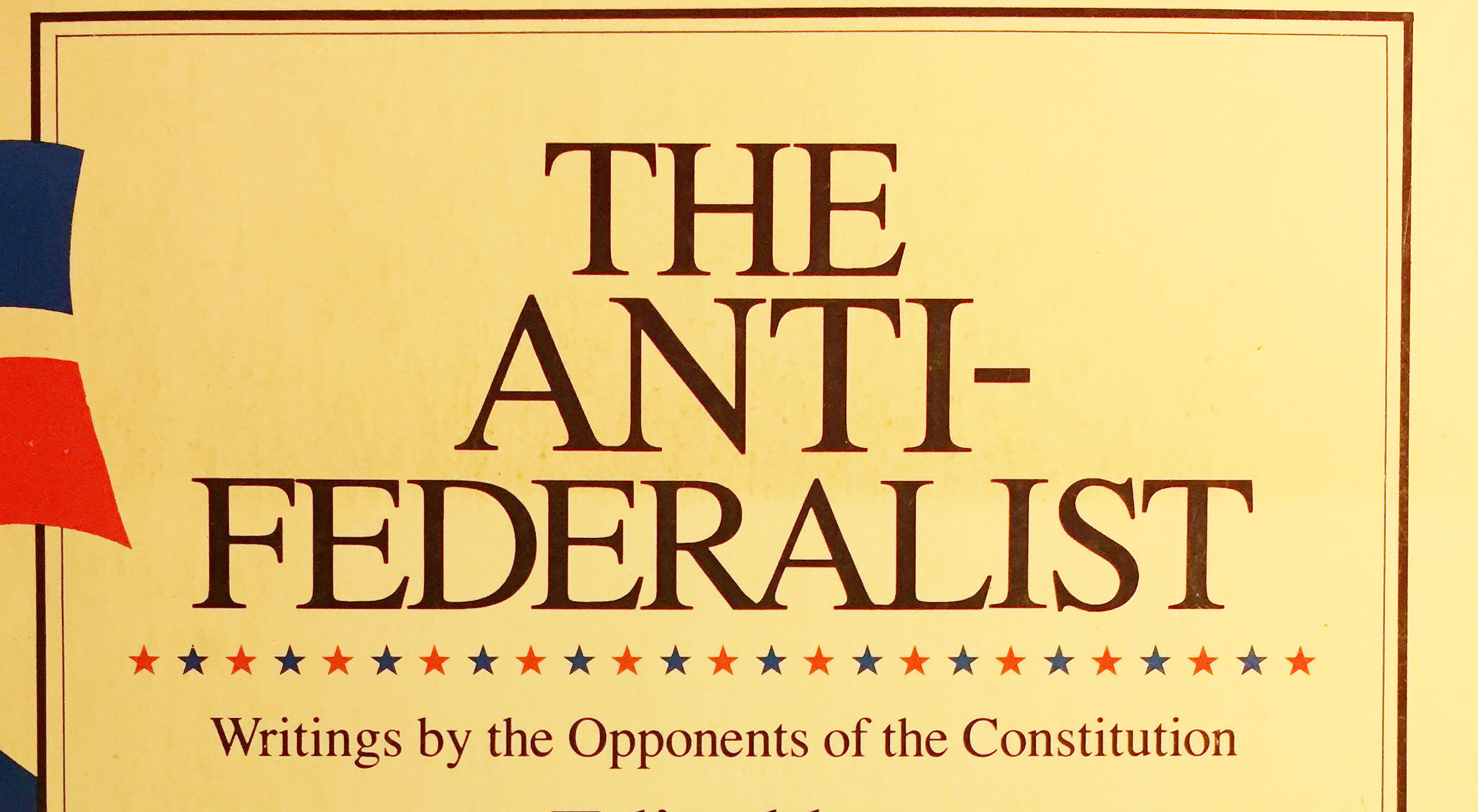 anti federalist papers The anti-federalist papers 311 likes the anti-federalist papers are a loose collection of arguments that were published in opposition to the.
