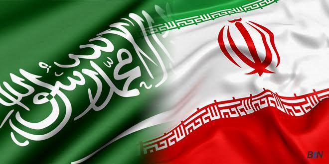 Saudi Iranian Flags