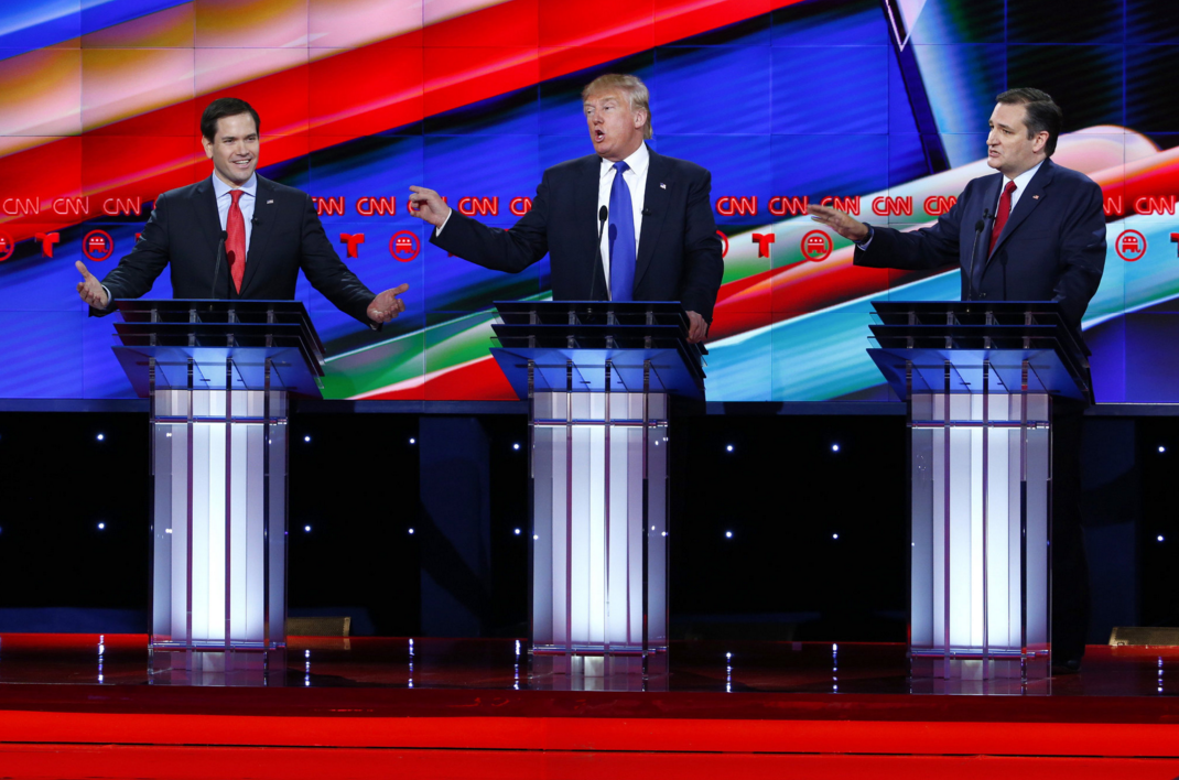 Tenth Republican Debate Rubio Trump Cruz