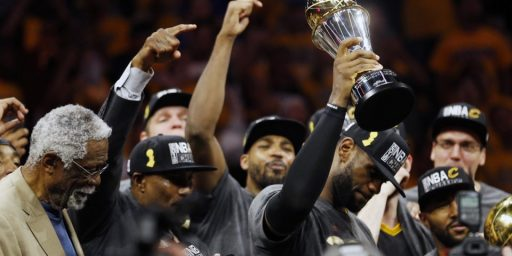 LeBron James Brings A Championship Home To Cleveland For The First Time Since 1964
