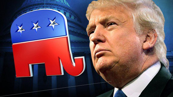 Trump And GOP Elephant