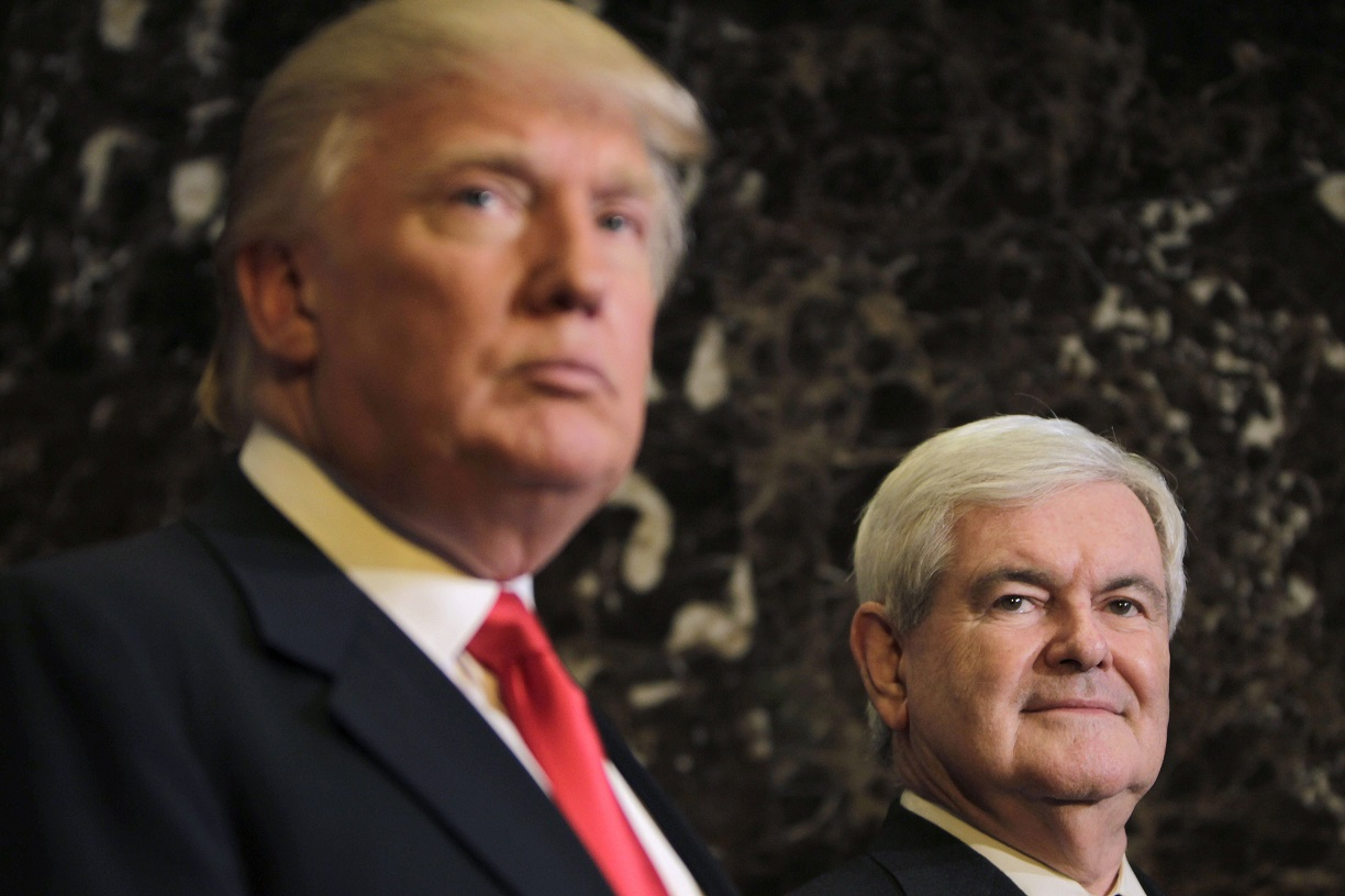 Newt Gingrich, Donald Trump
