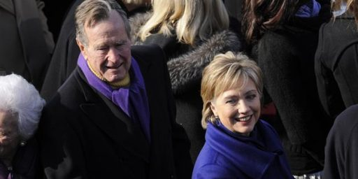 George H.W. Bush Reportedly Voting For Hillary Clinton