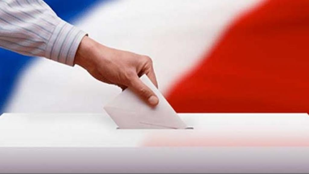 French Flag And Ballot Box