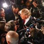 Trump Surrounded By Cameras