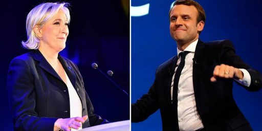 Macron and Le Pen Advance To Runoff In French Presidential Election