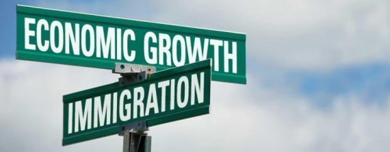 Immigration Economic Growth Road Signs