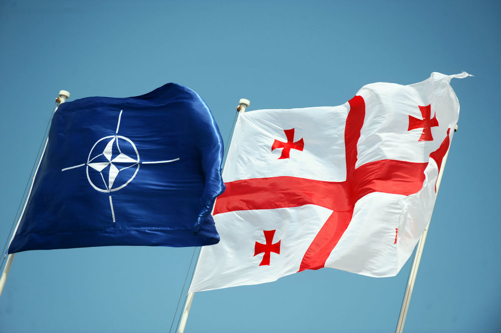 NATO Georgia Flags