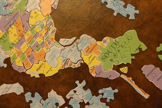Puzzle Map Latin America