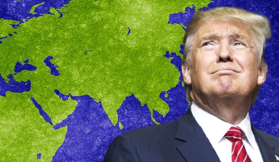 Donald Trump with Map of Asia