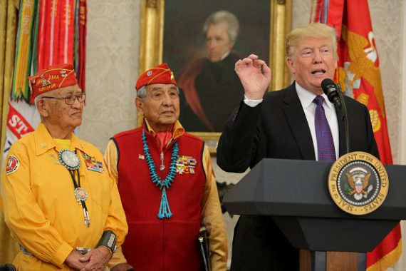 Trump Navajo Codetalkers