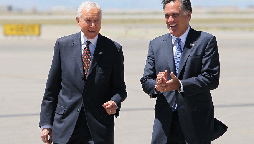 Orrin Hatch Mitt Romney