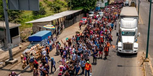 """Caravan"" Of Immigrants To Largely End Its Journey Through Mexico"